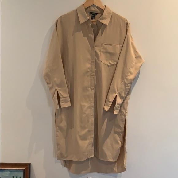 Forever 21 Khaki Shirt Dress